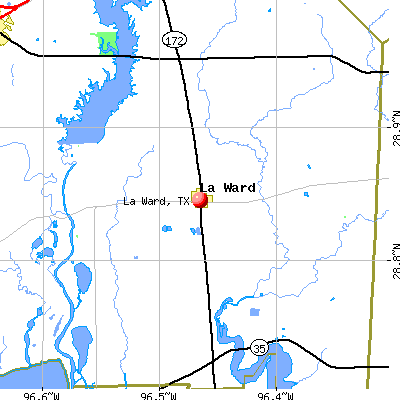 La Ward, TX map