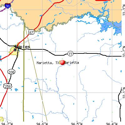 Marietta, TX map