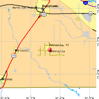 Petronila, TX map