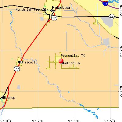 Petronila, TX map