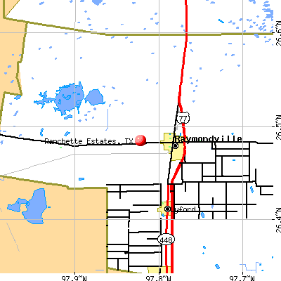 Ranchette Estates, TX map