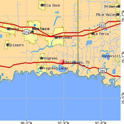Relampago, TX map