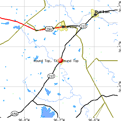 Round Top, TX map