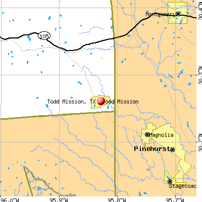Todd Mission, TX map