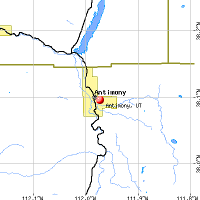Antimony, UT map