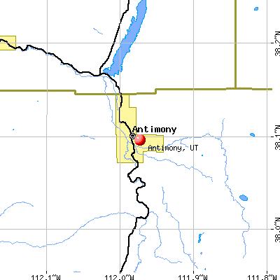 Antimony, UT map