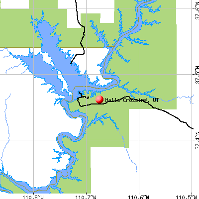 Halls Crossing, UT map