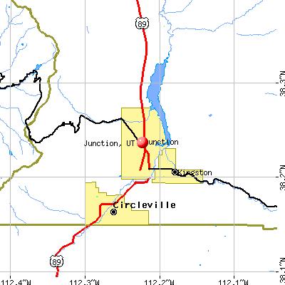 Junction, UT map