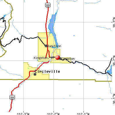 Kingston, UT map