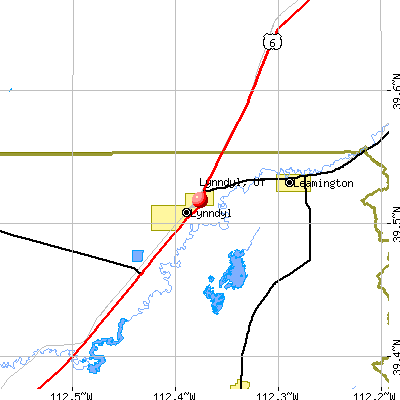 Lynndyl, UT map