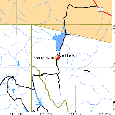 Scofield, UT map
