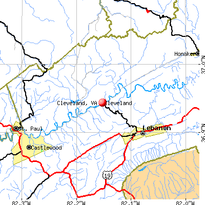 Cleveland, VA map