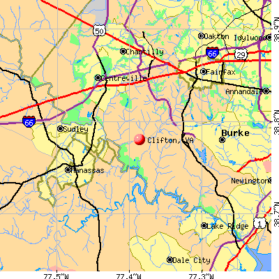 Clifton, VA map