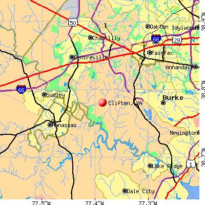 Clifton, VA map