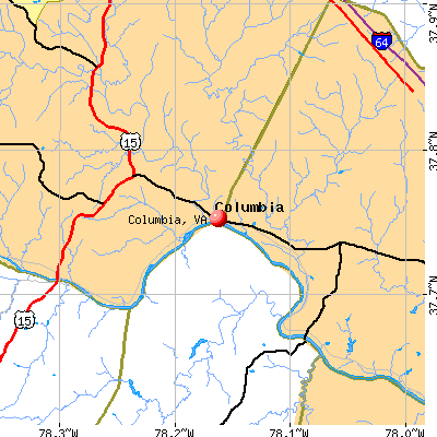 Columbia, VA map