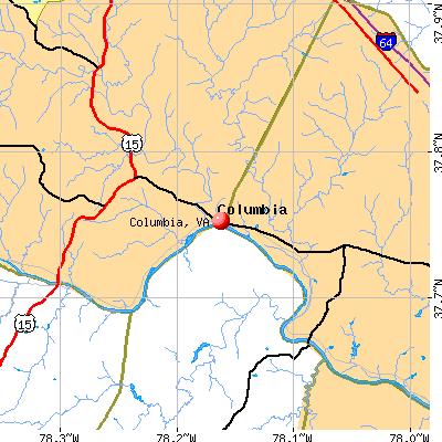 Columbia, VA map