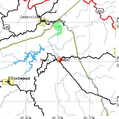 Haysi, VA map