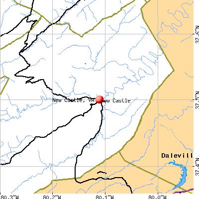 New Castle, VA map