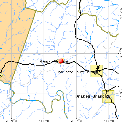 Phenix, VA map