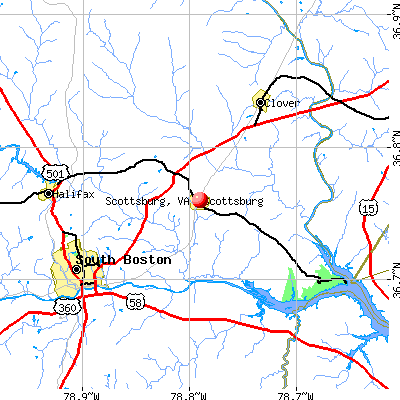 Scottsburg, VA map