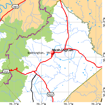 Washington, VA map