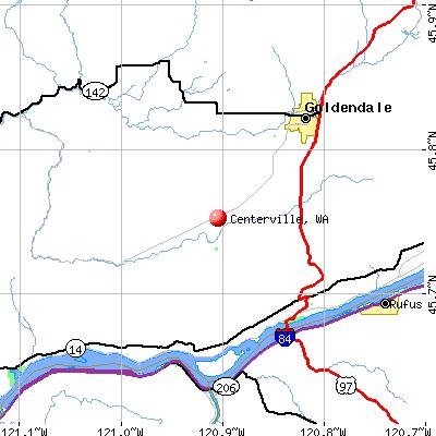 Centerville, WA map