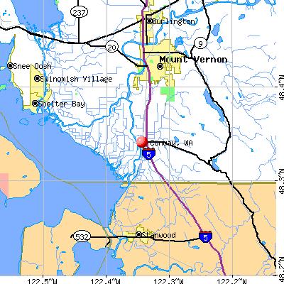 Conway, WA map