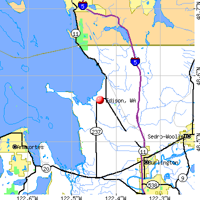 Edison, WA map