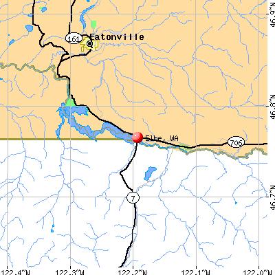 Elbe, WA map
