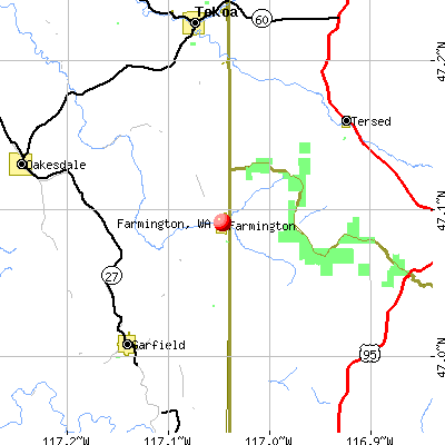 Farmington, WA map