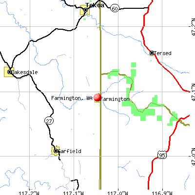 Farmington, WA map
