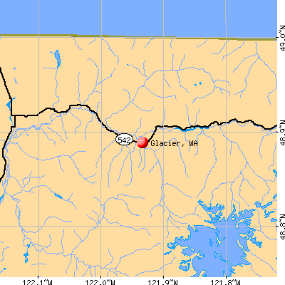 Glacier, WA map