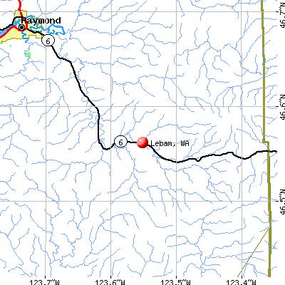 Lebam, WA map