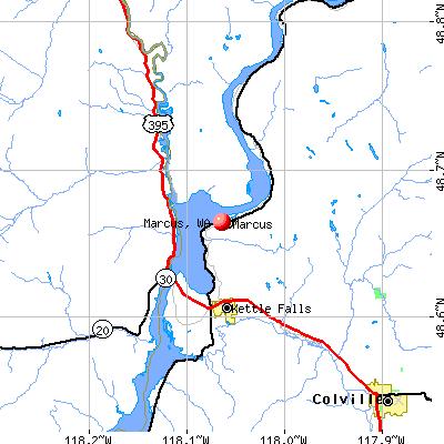Marcus, WA map