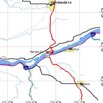 Maryhill, WA map