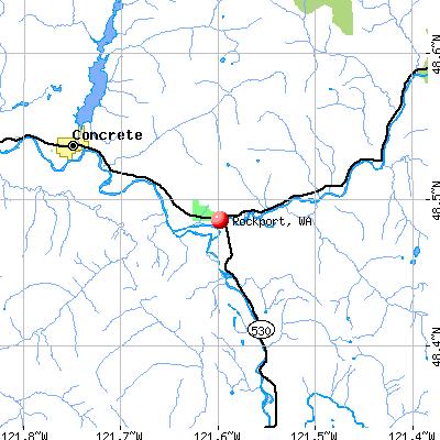 Rockport, WA map
