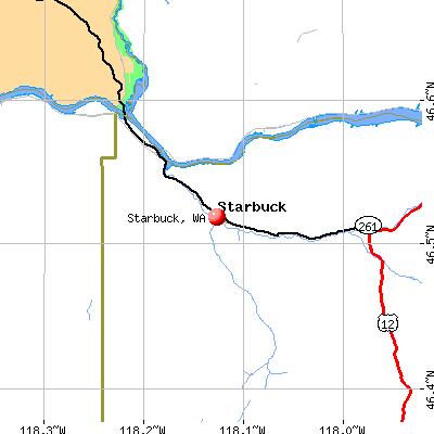 Starbuck, WA map