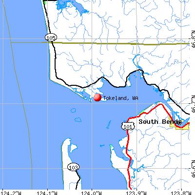 Tokeland, WA map