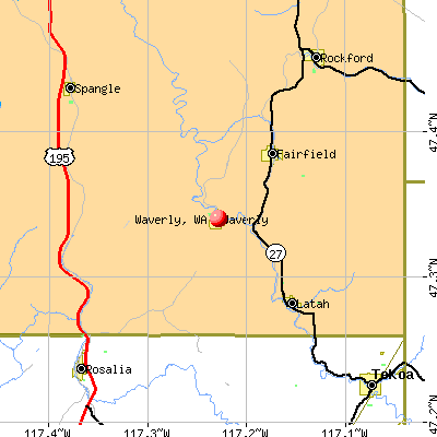 Waverly, WA map