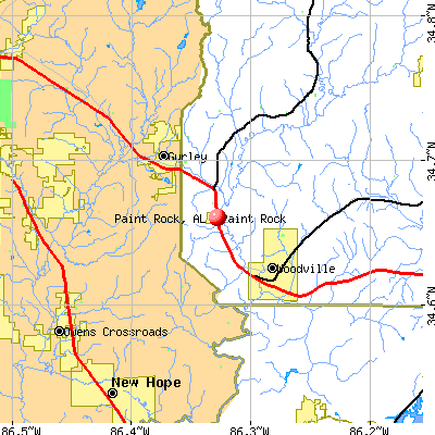 Paint Rock, AL map