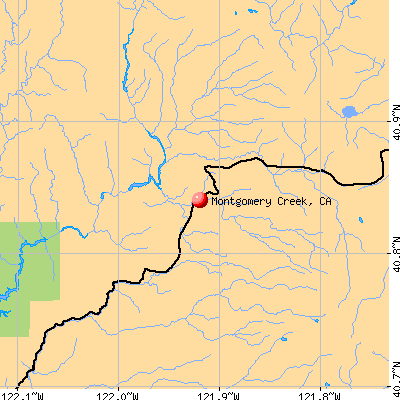 Montgomery Creek, CA map