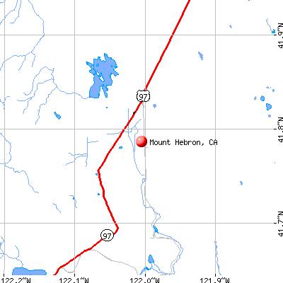Mount Hebron, CA map