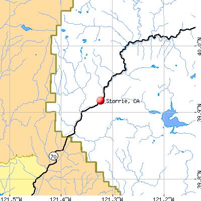 Storrie, CA map