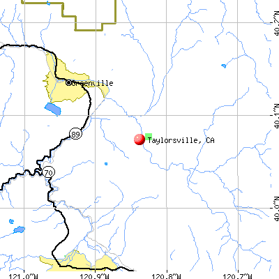 Taylorsville, CA map