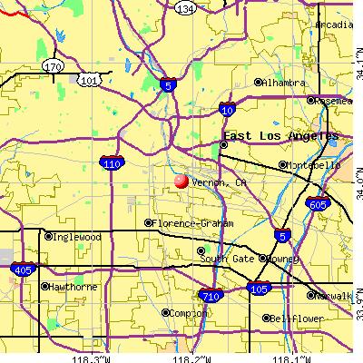 Vernon, CA map