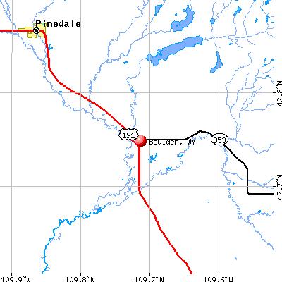 Boulder, WY map