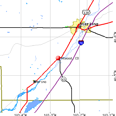 Atwood, CO map