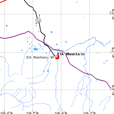 Elk Mountain, WY map