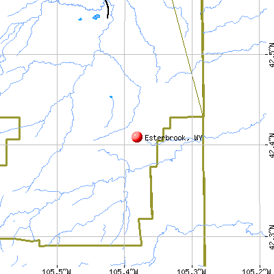 Esterbrook, WY map