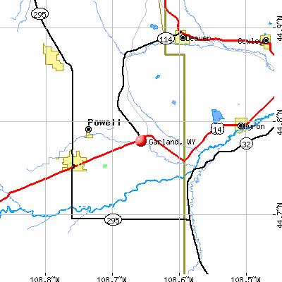 Garland, WY map